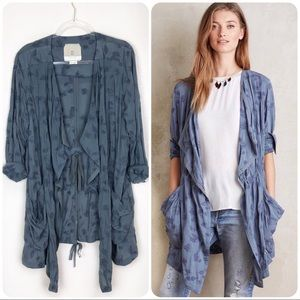 Anthropologie Hei Hei Melita Jacket Embroidered L